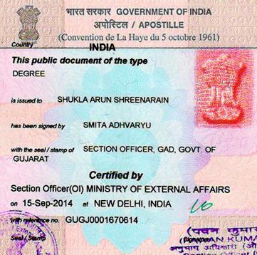Degree Certificate Apostille  in Kolar